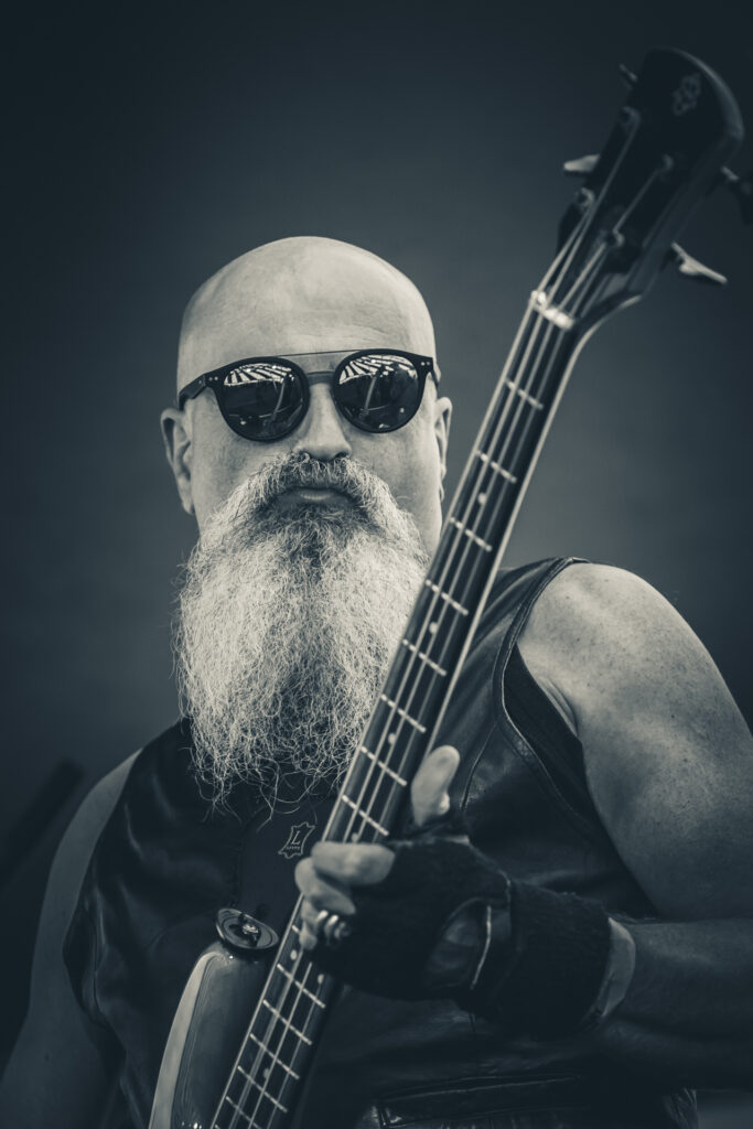 Mr Xenophon Haber-Percy bassist of Your Mom at Dubs of Anarchy 2019